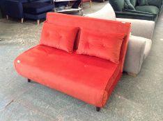 | 1x|Made.com Haru Small Sofa bed Flame Orange Ve
