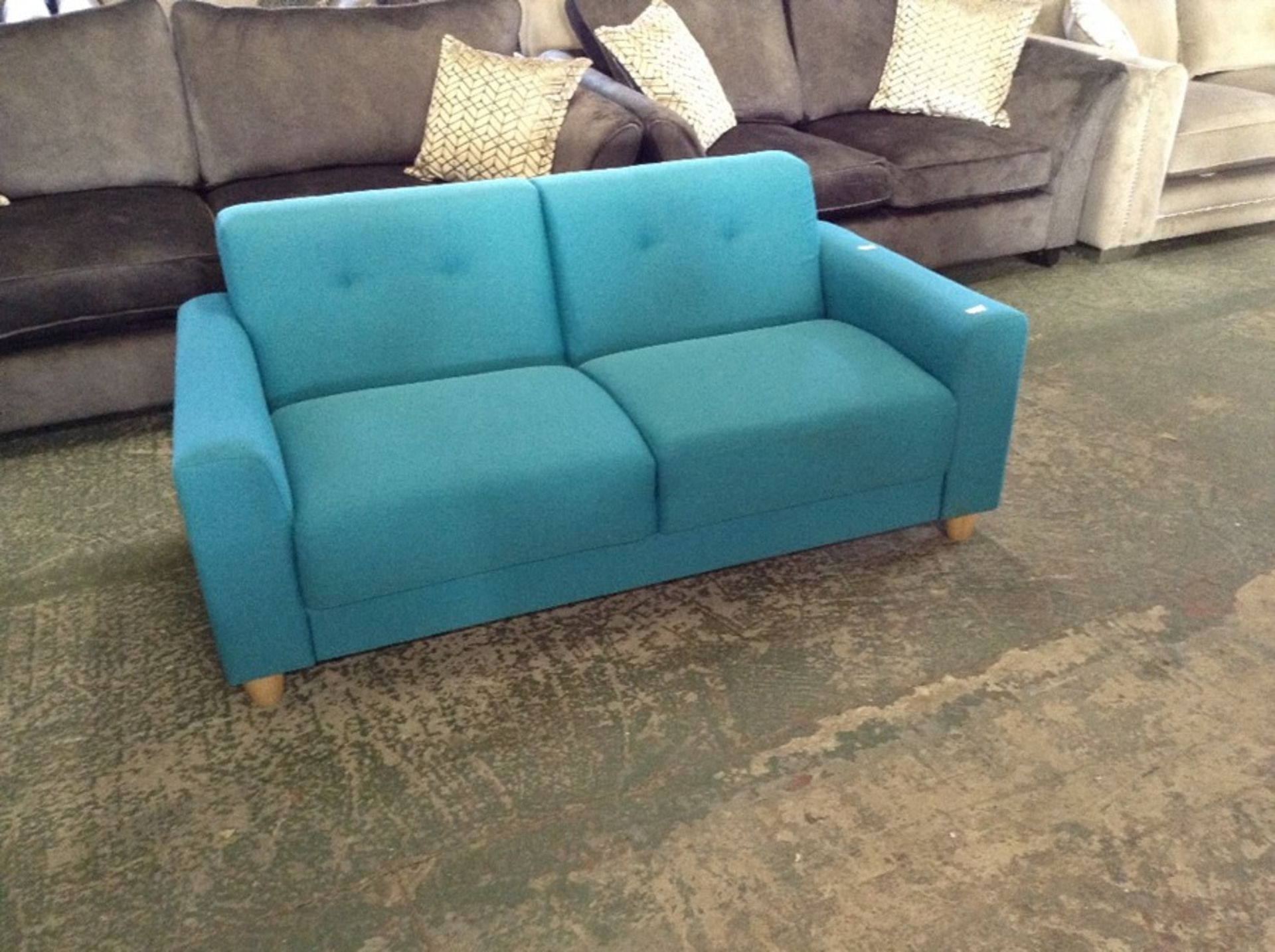 FIXED SOFA,BLUE MEDIUM (SFL1185)