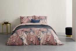 | 1x | Made.com Jangala Cotton Duvet Cover + 2 Pillowcases Double Pink UK RRP £55 | SKU MAD-