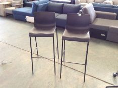 |X1| X2 BLACK BAR STOOLS (MARKED) |RRP-| |NO CODE|