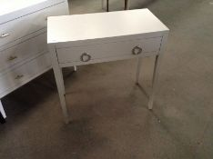 SOFT GREY TELEPHONE TABLE (CHIPPED)