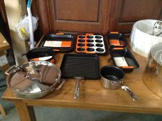 Le Creuset,VARIOUS ITEM INCLUDING 3 PLY STAINLESS STEEL COOKWARE 30 CM CASSEROLE ,GRILL PAN ,