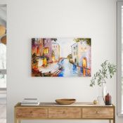 East Urban Home, Watercolour Glow Venice Painting On Canvas - RRP £25.99 (BGSY6030 - 21384/7) 1G