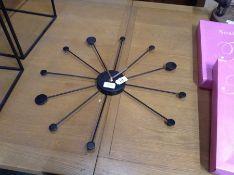| 1x | Made.com Sputnik Large Wall Clock Black RRP