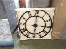 Williston Forge,Wall Clock RRP -£52.99 (14504/29 -WLFG2140)(BOXED, NOT CHECKED)