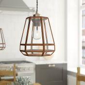 Corrigan Studio,17cm Glass Bell Pendant Shade RRP - £42.99 (17474/57 -UEL5252) 4E