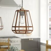 Corrigan Studio,17cm Glass Bell Pendant Shade RRP - £42.99 (17474/56 -UEL5252) 4E