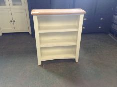 Gloucester White Painted Oak Small Wide Bookcase (