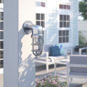 MiniSun Quay 1 Light Outdoor Sconce (CHROME) RRP - £44.99 (MSUN2750 - 7411/35) - 5F
