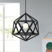 Iconic Lights Cubik 1-Light Geometric Pendant (BRONZE) RRP - £37.32 (ICLI1011 - 7411/29) - 4F