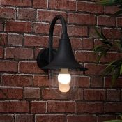 MiniSun Bramhall 1 Light Outdoor Fisherman Light (BLACK) RRP - £22.82 (MSUN2710 - 7411/17) - 6D