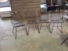 ASTRID SET OF 4 METAL CHAIRS (22779-6, 22587-7, 22