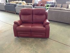 RED LEATHER HIGH BACK 2 SEATER (TR002207-W00868882