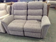 GREY PATTERNED ELECTRIC RECLIN ING 2 SEATER(TROO22