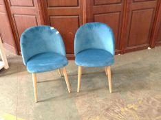 Fjørde & Co,MOF Set Of 2 Dining Chairs Soft Velve
