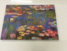 Red Barrel Studio, 'Water Lilies, 1916' by Claude Monet Graphic Art Print on Wrapped Canvas - RRP £