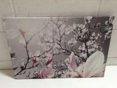 East Urban Home, Beautiful Magnolia Blossom Wall Art on Canvas - RRP £54.99 (EXXP2850 - 14011/46)