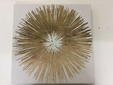 East Urban Home , Gold Dandelion Print on Canvas - RRP £19.99 ( - 18762/26) 1G