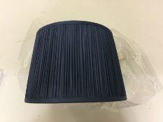 Brayden Studio, Wentworth 30.5cm Silk Empire Lamp Shade (DARK BLUE) - RRP £38 (UEL11141 - HL9 - 3/