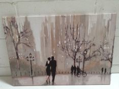 Three Posts , An Evening Out I' by Julia Purinton Print on Wrapped Canvas (NO FRAME) - RRP £44.99 (