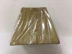 Astoria Grand, 22cm Fabric Square Lamp Shade (GOLD) - RRP £21.99 (DLI7853 - 18560/67) 1I