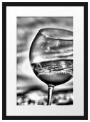 East Uraban Home , Wine Glasses At The Sea - Picture Frame Photograph - RRP £71.99 (EUCU9481 -