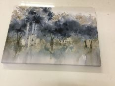 Three Posts , Metallic Forest Wrapped Canvas Art Print - RRP £60.99 ( - 18762/61) 1G