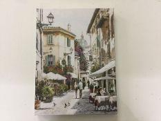 Rosalind Wheeler, Cafe Stroll by Richard Macneil CANVAS - RRP £22.99 (BDBU2587 - 21458/38) 1E