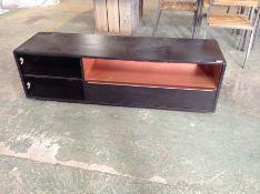 BLACK TV STAND (MISSING DOOR)