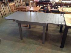 Dakota Fields ,Loki Extendable Aluminium Dining Table RRP -£189.99 (23077/9 -PERU1038) (SCRATCHED)