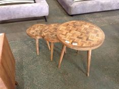World Menagerie,Kukkapalli 3 Piece Nest of Tables RRP£269.99 (HL9 - 1/5 -HBVJ1190.45121872)(