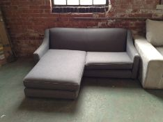 GREY 3 SEATER CHAISE (MISSING CORRECT FEET)