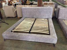 GREY SADDLE 6 FT BED FRAME (RETURN SMALL RIP)