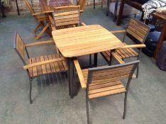 Dakota Fields ,Porthleven 4 Seater Dining Set RRP -£479.99 (23077/8 -VDAX7328)