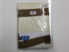 OXFORD PILLOWCASES PAIR (CREAM) (50 X 75cm) (EXDL1478 - HL9 - 17/67) 8F