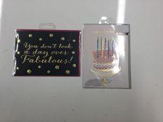 ASSORTMENT OF BIRTHDAY CARDS ( X8 ) (NX2 - 37) - 7D