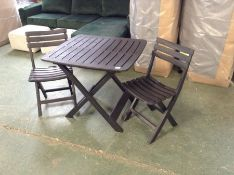 BISTRO FOLDING TABLE AND 2 CHAIRS