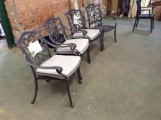 Hartman ,Capri 4 Garden Chairs Only RRP -£499.99 (23030/6 -PDNF1018) (MISSING CUSHION)