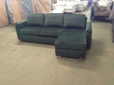 SACHA OPULENCE BOTTLE GREEN SOFABED(SFL3009) (WRAP