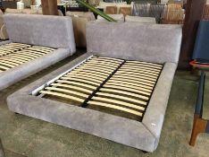 GREY SADDLE 6 FT BED FRAME