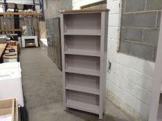 Salisbury Grey Painted Oak Large Bookcase (A48 -LP-LBC-G)(damage)