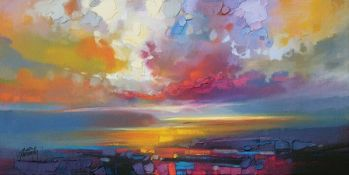 East Urban Home,'Uig Clouds' Painting Print (ROLLED UP) RRP -£25.82 (14610/10 -APET3809)