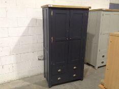 Hampshire Blue Large Larder Unit(B/46 -LARL-PBLUE)(DAMAGED DOOR)