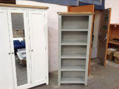 Hampshire Grey Painted Oak Large Bookcase (A92 -WXF P27)