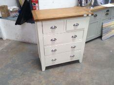Hampshire White Painted Oak 2 Over 3 Chest(B/55 -KEL P11-82)(DAMAGED)