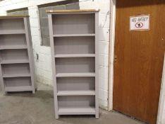 Salisbury Grey Painted Oak Large Bookcase (A143 -LP-LBC-G)(DAMAGED)