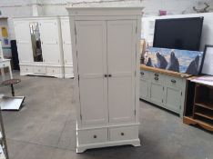 Banbury White Painted 2 Door Gents Wardrobe(B/79 -BP-GWR-W)(HOLE IN BACK)