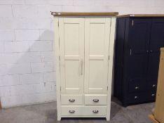 Hampshire Ivory Painted Oak Large Larder Unit(B/69 -HP-LLU-C)(DAMAGED)