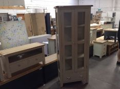 Chester Grey Painted Oak Display Cabinet(B/45 -NC-DIS-PT)(DAMAGED)
