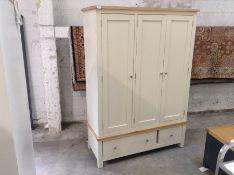 Salisbury Ivory Painted Oak Triple Wardrobe (A102 -LP-TWR-C)(DAMAGED)
